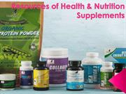 Resources of Health & Nutrition Supplements by NutriZing