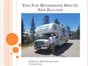 Tips For Motorhome Hire In USA