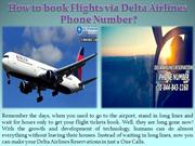 How to book Flights via Delta Airlines Phone Number
