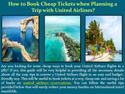 How to Book Cheap Tickets when Planning a Trip with United Airlines