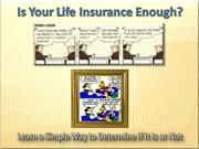 Is Your Life Insurance Enough?