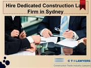 Construction Law Firm in Sydney