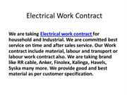 Electrical Work Contract