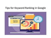 Tips for Keyword Ranking in Google