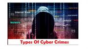 Type of cyber crime - Fusion Factor Corporation