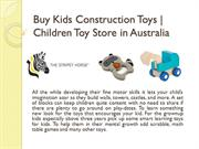 Buy Kids Construction Toys | Children Toy Store in Australia