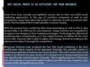 Why Social Media Is So Efficient for Your