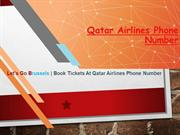 Let's go Brussels  Book Tickets at Qatar Airlines Phone Number