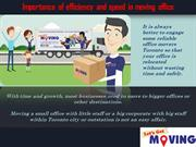 Importance of efficiency and speed in moving office