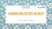 Cruise Tips to Try in 2019 - Accor Vacation Club