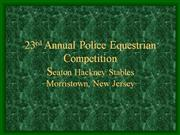 Equine Law Enforcement Competition