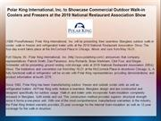 Polar King International, Inc. to Showcase Commercial Outdoor Walk-in