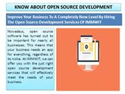 Get the Best Open Source Development Services