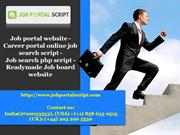 job portal website, career portal online job search script, job search