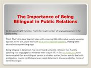 The Importance of Being Bilingual in Public Relations