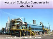waste oil collection companies in Dubai