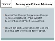 Canning Vale Chinese Takeaway - Order Chinese food online