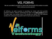 Velforms Provides You Best Payment Terminals System