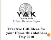 Creative Gift Ideas for your Home this Mothers Day 2019