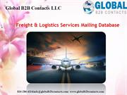 Freight & Logistics Services Mailing Database
