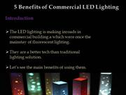 5 Benefits of Commercial LED Lighting