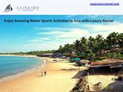 Goa Yacht - Luxury Rental