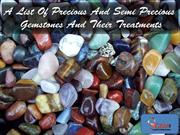 A List Of Precious And Semi Precious  Gemstones