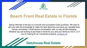 Beach Front Real Estate in Florida _ Getuhouse Real Estate