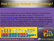 How To Setup Outlook Email Settings?