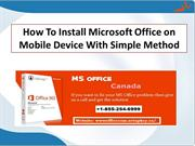 How To Install Microsoft Office on Mobile Device With Simple Method