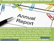 Workplace Compliance Services On Annual Reports