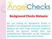 Background Checks Malaysia - Angle Checks