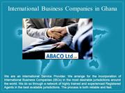 International Business Companies in Ghana