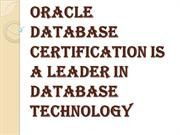 Oracle Database Certification is a Leader in Database Technology