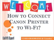 How to Connect Canon Printer to Wi-Fi