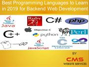 Best Backend Development Programming languages in 2019
