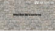 Which Brick Slip is best for me