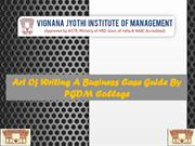 Art Of Writing A Business Case Guide By PGDM College VJIM Hyderabad