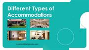 Different Types of Accommodations