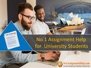 No 1 Assignment Help for University Students