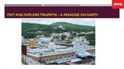 VISIT AND EXPLORE TIRUPATHI – A PARADISE ON EARTH