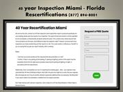 40 year Inspection Miami FL