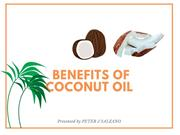 Peter J Salzano _Benefits Of Coconut Oil