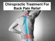 Chiropractic Treatment For Back Pain Relief
