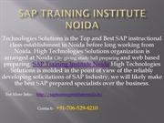 SAP Training Institute Noida