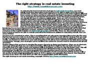 The right strategy in real estate investing