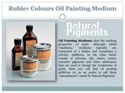 Rublev Colours Oil Painting Medium | Fast Drying Oil Medium