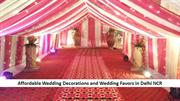 Affordable Wedding Decorations and Wedding Favors in Delhi NCR