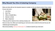 Why Should You Hire A Catering Company