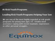 At Risk Youth Programs Leading Risk Youth Programs Helping Your Son